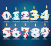 Birthday candle numbers Stock Image