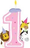 1 Birthday Candle Stock Image