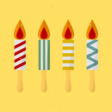 Birthday Candle. On a stick. vector format Stock Image