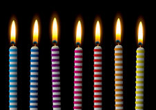 Birthday candle stripe Stock Photography