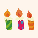 Birthday candle theme elements vector,eps Stock Image