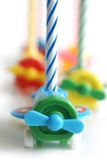 Birthday candles. On a white background stock images