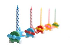 Birthday candles. Isolated on a white background Stock Image