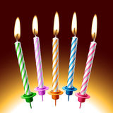 Birthday candles. Vector illustration of birthday candles. Detailed portrayal. Place on your cake royalty free illustration