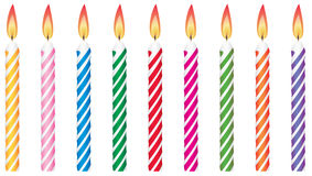 Birthday candles Royalty Free Stock Photos