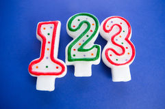 Birthday candles Royalty Free Stock Photography