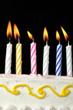 Birthday Candles. Colorful birthday Candles on black background Stock Images