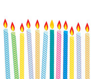 Birthday candles. Colorful birthday candles on isolated background stock illustration