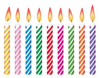 Birthday candles Stock Photography