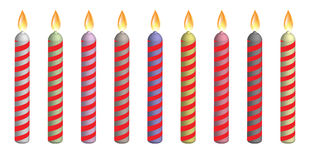 Birthday candles. 3d birthday candles isolated on white background Stock Image
