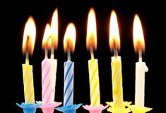 Birthday candles. Royalty Free Stock Photography