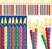 Birthday Candles. 30 birthday, 3 grouped, 4 grouped Stock Photos