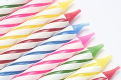 Birthday candles. A row of birthday candles Royalty Free Stock Photography