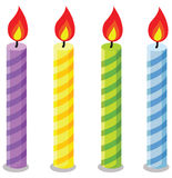 Birthday candles. Vector set of birthday candles Stock Image