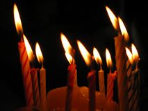 Birthday Candles. Closeup of Birthday Candles stock photo