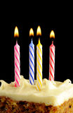 Birthday candles Stock Images