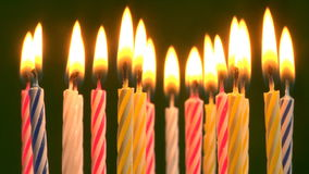 Birthday candles stock video