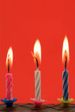 birthday candles in a cake Royalty Free Stock Photo