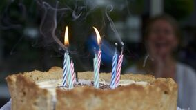 Birthday candles on cake