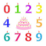 Birthday Candles and Cake Royalty Free Stock Images