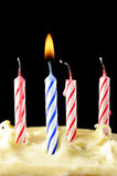 Birthday candles on cake Royalty Free Stock Image