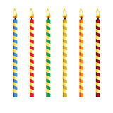 Birthday candles for cake vector illustration Royalty Free Stock Image