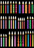 Birthday candles collection Royalty Free Stock Photo