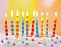 Birthday candles stock photos