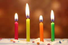 Birthday candles Stock Image