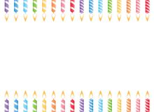 Birthday candles frame.vector royalty free illustration