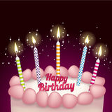 Birthday and candles Royalty Free Stock Photography
