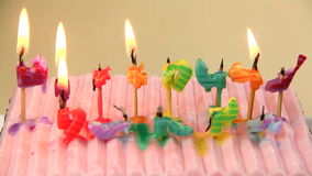 Birthday Candles Go Out stock video