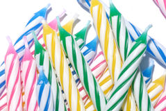Birthday candles group Stock Photos