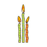 Birthday candles icon image. Vector illustration design Stock Image
