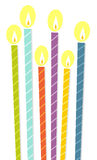 The birthday candles Royalty Free Stock Photography