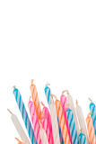 Birthday candles. Isolated on white bg Royalty Free Stock Photography