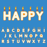 Birthday candles letters Royalty Free Stock Image