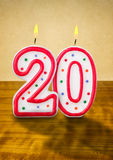 Birthday candles number 20 Stock Image