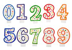 Birthday candles number isolated Stock Photography