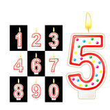 Birthday candles number. Red Stock Image