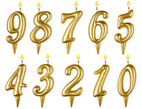 Birthday candles number set isolated on white Stock Images