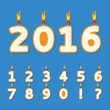 Birthday candles numbers Stock Images