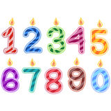 Birthday Candles Numbers Stock Photos