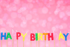 Birthday candles on the  pink  background Royalty Free Stock Image