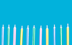 Birthday candles in a row Stock Image