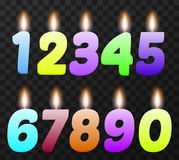 Birthday candles set Royalty Free Stock Photo