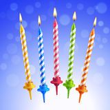 Birthday candles set Stock Image