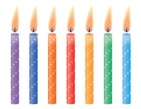 Birthday candles. Vector illustration. Stock Image