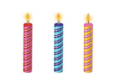 Birthday Candles Vector Stock Images