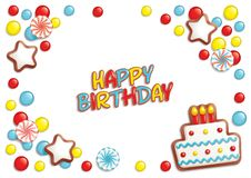 Birthday candy background Stock Photography